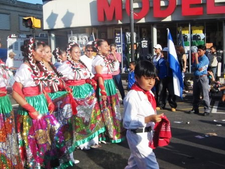 Parade in downtown Zacatecas, 2009